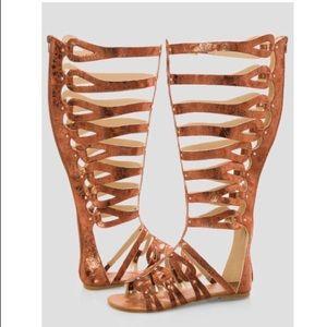 NIB Gladiator Sandals For Large Calf